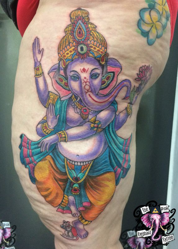 The Pink Elephant Tattoo - Ganesha
