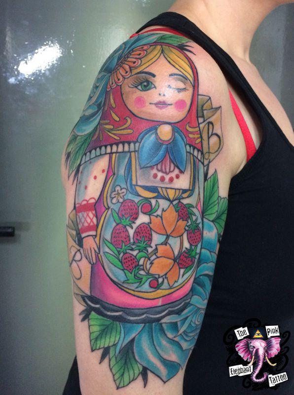 The Pink Elephant Tattoo - Matrjoschka