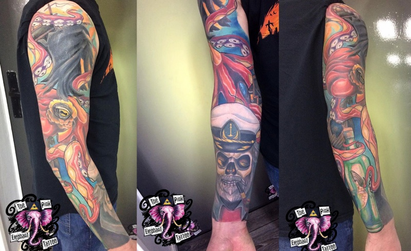 The Pink Elephant Tattoo - Sailors Ruin