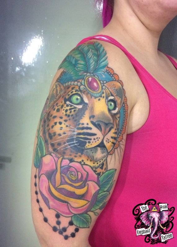 The Pink-Elephant Tattoo - Zirkusleopard